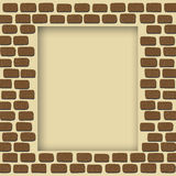 Empty brick wall frame Royalty Free Stock Image