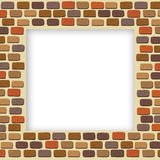 Empty brick wall frame Royalty Free Stock Photos