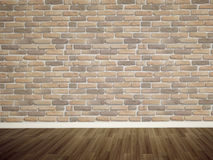 Empty bricks wall and floor Royalty Free Stock Photography