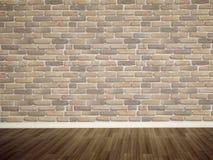 Empty bricks wall and floor stock illustration