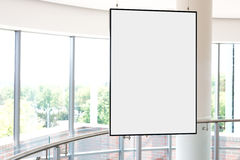 Empty bright art gallery with blank pictures on the walls Stock Photos