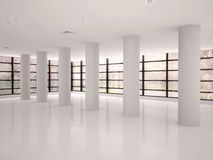 Empty and bright corridor Royalty Free Stock Images