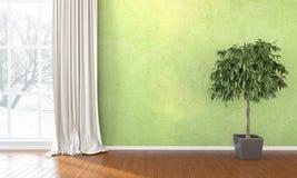 Empty bright interior . 3D render Royalty Free Stock Photo