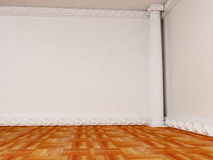 Empty bright room with a column Royalty Free Stock Images