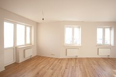 Empty bright room with window Stock Photography