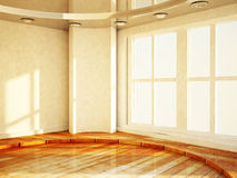 Empty bright room with the window Stock Images