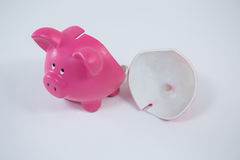 Empty broken piggy bank Royalty Free Stock Photo