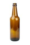 Empty brown beer bottle Stock Photos
