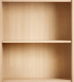 Empty brown bookcase for books and other items to Stock Images