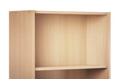 Empty brown bookcase for books and other items to Royalty Free Stock Images