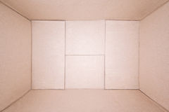 Empty Brown Cardboard Box Royalty Free Stock Photography