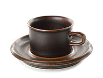 Empty brown coffee cup Royalty Free Stock Photography