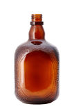 Empty brown glass bottle Royalty Free Stock Images