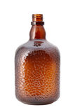 Empty brown glass bottle Royalty Free Stock Image