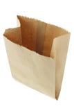 Empty brown paper bag stock image