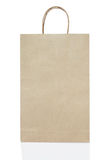 Empty brown paper bag on white background include path Stock Images