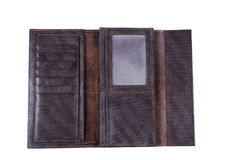 Empty brown wallet isolated Royalty Free Stock Photo
