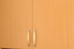 Empty brown wardrobe Stock Photography