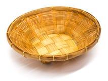 Empty brown wicker woven basket  Stock Image