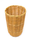 Empty brown wicker woven basket  Stock Images