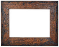 Empty Brown Wooden Frame Cutout Royalty Free Stock Image