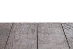 Empty brown wooden texture table isloated with white background Stock Photos