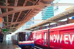 Empty BTS Skytrain station, Bangkok Stock Photo