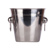 Empty bucket for champagne bottle Royalty Free Stock Images