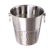 Empty bucket for champagne bottle isolated on a white Stock Photography