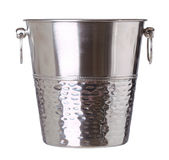 Empty bucket for champagne bottle isolated on a white Stock Photos