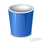 Empty bucket icon isolated. Royalty Free Stock Photos