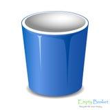 Empty bucket icon isolated. Royalty Free Stock Photos