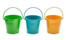 Empty bucket stock photo