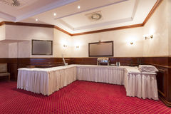 Empty buffet table in hotel restaurant Stock Image