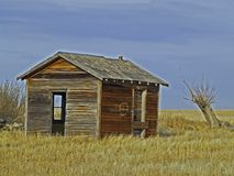Empty Building. This picture was taken in central Montana near the Choteau area in prairie country Royalty Free Stock Images