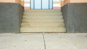 Empty building cement stairway. The empty building cement stairway Stock Image