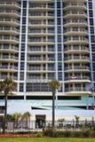 Empty Building & Palm Trees, Gulf Coast Stock Photos