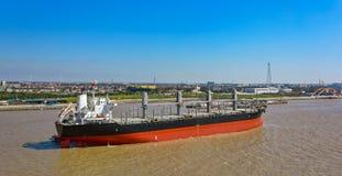 Empty bulk carrier cargo ship Royalty Free Stock Photos