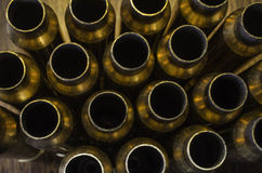 Empty Bullet Casings Background Royalty Free Stock Images