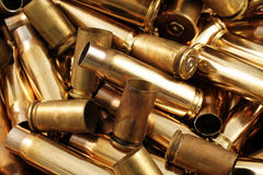 Empty Bullet Casings Close Up Royalty Free Stock Photo