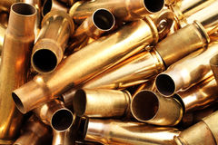 Empty Bullet Casings Close Up Royalty Free Stock Photography