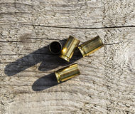 Empty bullet shells Stock Images