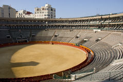 Empty bullring. In valencia, spain stock images