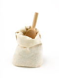 Empty burlap sack. Royalty Free Stock Photo
