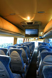 Empty bus interior Royalty Free Stock Photo