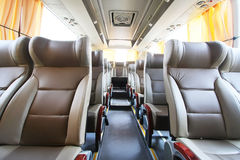Empty bus interior Royalty Free Stock Images