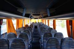 Empty bus interior royalty free stock photo