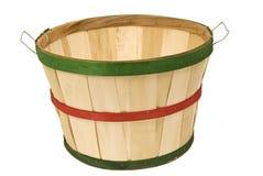 Empty Bushel Basket isolated On White Revised Royalty Free Stock Image