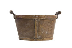 Empty bushel basket with a wood handle Stock Photography