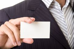 Empty business card Stock Images
